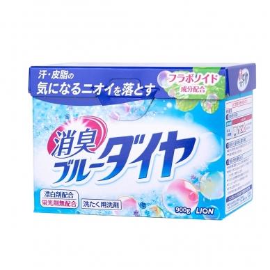 """""""LION BLUE DIA"""" dezodoruojantys, skalbiamieji muilo milteliai, (mėtų kvapo), 900 g"""