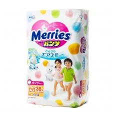 MERRIES sauskelnės-kelnaitės vaikams, XL dydis (12–22 kg), 38 vnt.