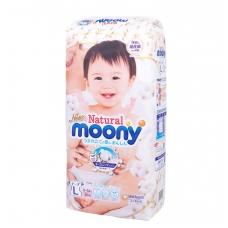 MOONI NATURAL ekologiškos sauskelnės kūdikiams, L dydis (9–14 kg), 38 vnt.