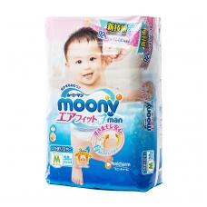 MOONY sauskelnės-kelnaitės kūdikiams, M dydis (6–11 kg), 58 vnt.