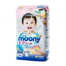MOONY japoniškos sauskelnės kūdikiams, L dydis (9–14 kg), 54 vnt.