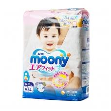 MOONY japoniškos sauskelnės kūdikiams, M dydis (6–11 kg), 64 vnt.