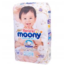 MOONY NATURAL ekologiškos sauskelnės kūdikiams, M dydis (6-11 kg), 46 vnt.