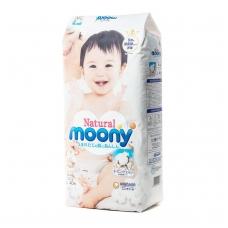 MOONY NATURAL ekologiškos sauskelnės kūdikiams, L dydis (9–14 kg), 40 vnt.