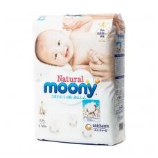 MOONY NATURAL ekologiškos sauskelnės kūdikiams, S dydis (4–8 kg), 60 vnt.
