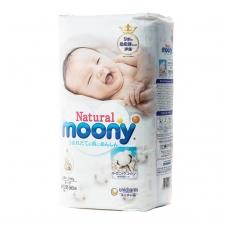 MOONY NATURAL ekologiškos sauskelnės kūdikiams, NB dydis (iki 5 kg), 66 vnt.