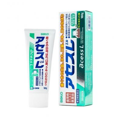 """""""SATO ACESS L""""  dantsu augaliniais ekstraktais, dantų ir dantenų priežiūrai (gingivito profilaktikai). Mėtų skonio, 160 g"""