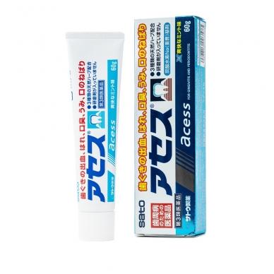 """""""SATO ACESS"""" dantų pasta su augaliniais ekstraktais, dantų ir dantenų priežiūrai. (gingivito profilaktikai), 60 g"""